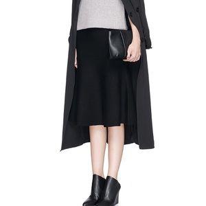 Theory Midi Classic Black Skirt